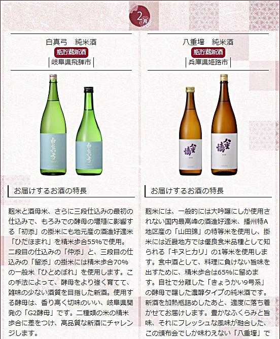 日本名門酒会頒布会2020年秋冬コース2月酒