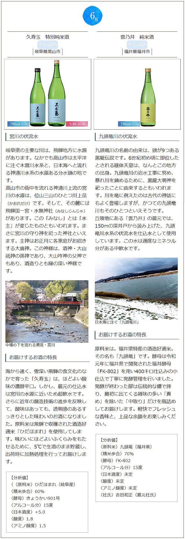 日本名門酒会頒布会2021年夏6月