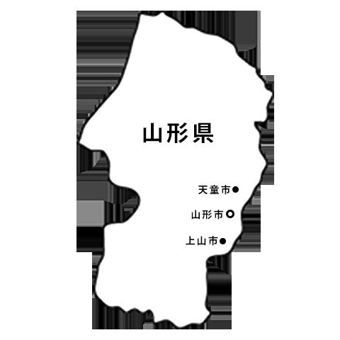 山形県の地図(山形市/上山市/天童市)